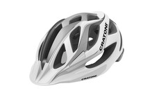 Cratoni Miuro Casque blanc-argent-noir brillant